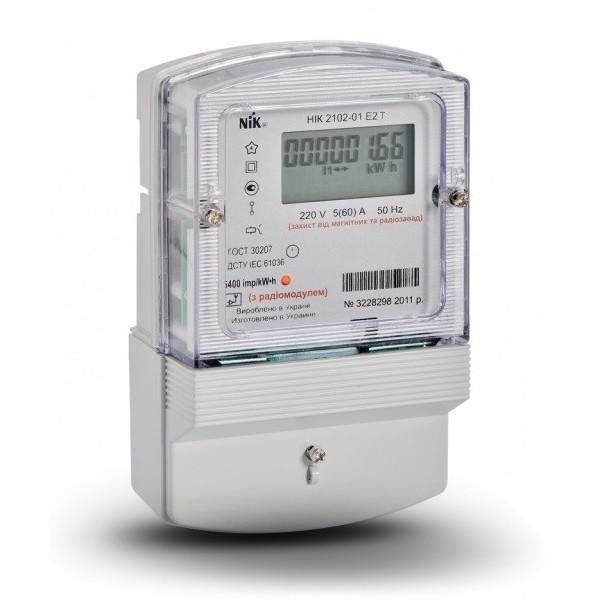 Электросчетчик многотарифный НИК 2102-01.Е2Т 220В (5-60)А М2 с электронным дисплеем