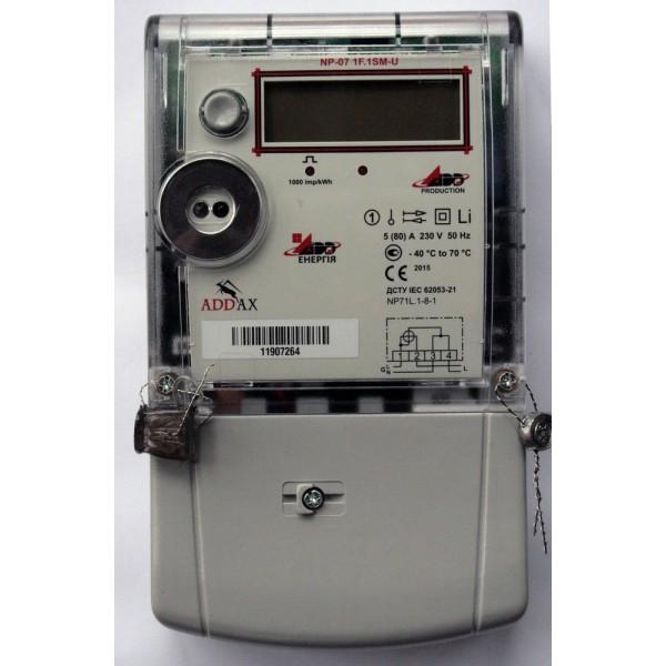 Счетчик электроэнергии ADD-Энергия NP-07 1F.1SM-U  5(80)А, 230В