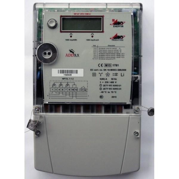 Счетчик электроэнергии ADD-Энергия NP-07 3FD.1SM-U  5(80)A, 3х230/400B
