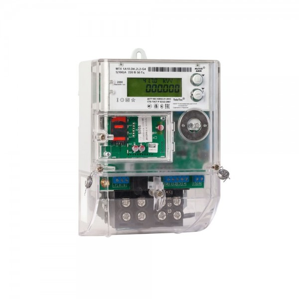 Счетчик электроэнергии MTX1A10.DF.2L0-PO4  5(60)А, 220В