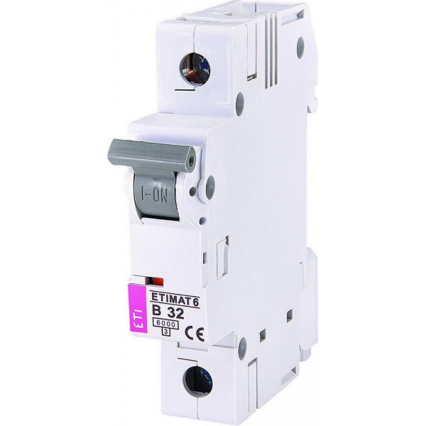 Автоматический выключатель  ETI6  1р В 32А
