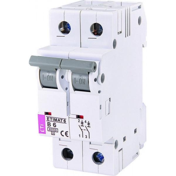 Автоматический выключатель ETI6  2р В  6А