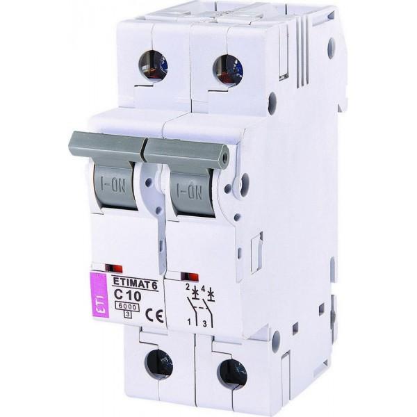 Автоматическиый выключатель  ETI6  2р С 10А