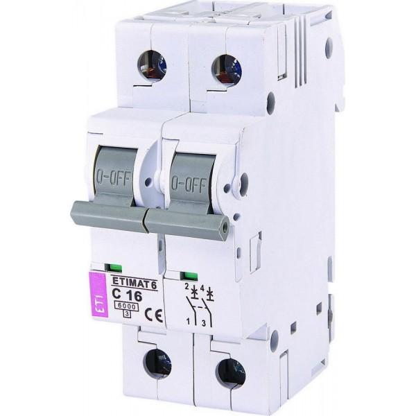 Автоматический выключатель ETI6  2р С 16А