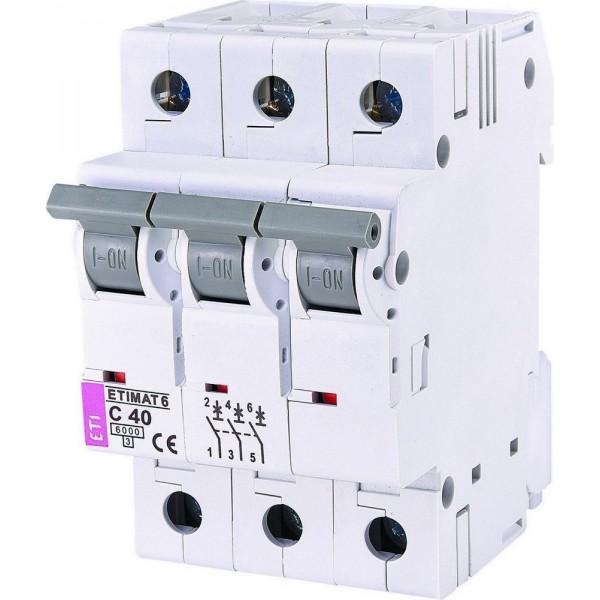 Автоматический выключатель  ETI6  3р С 40А
