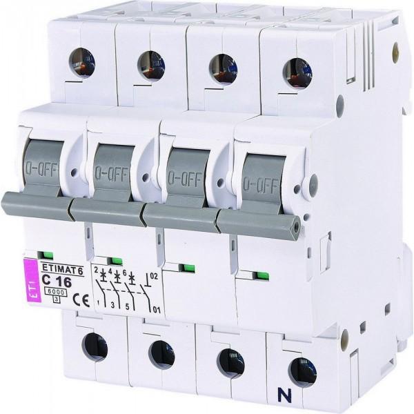Автоматический выключатель ETI6  3р+N С 16А