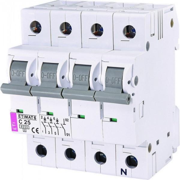 Автоматический выключатель  ETI6  3р+N С 25А