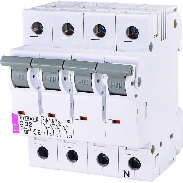 Автоматический выключатель  ETI6  3р+N С 32А