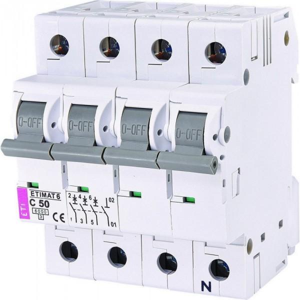 Автоматический выключатель ETI6  3р+N С 50А