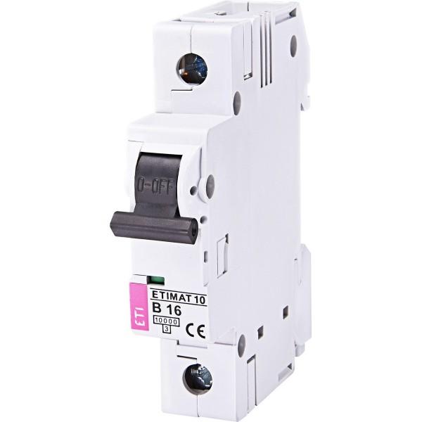 Автоматический выключатель ETI10  1р В 16А