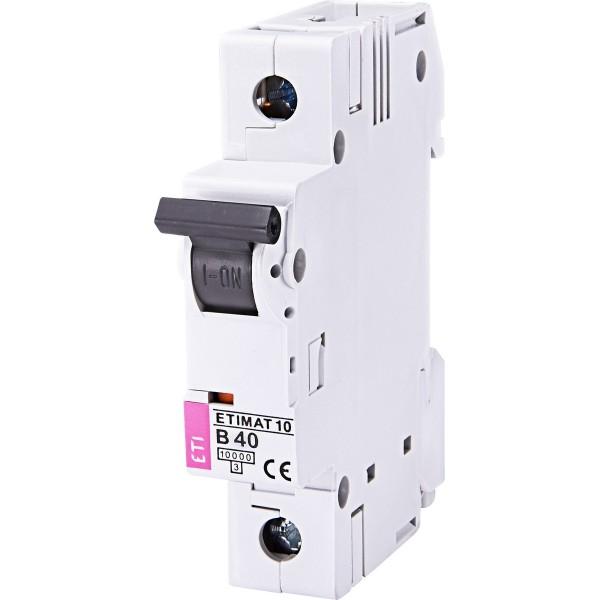 Автоматический выключатель ETI10  1р В 40А