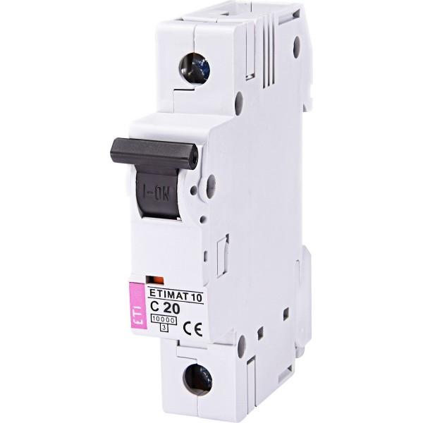 Автоматический выключатель ETI10  1р C 20А