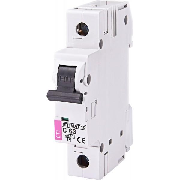 Автоматический выключатель  ETI10  1р C 63А