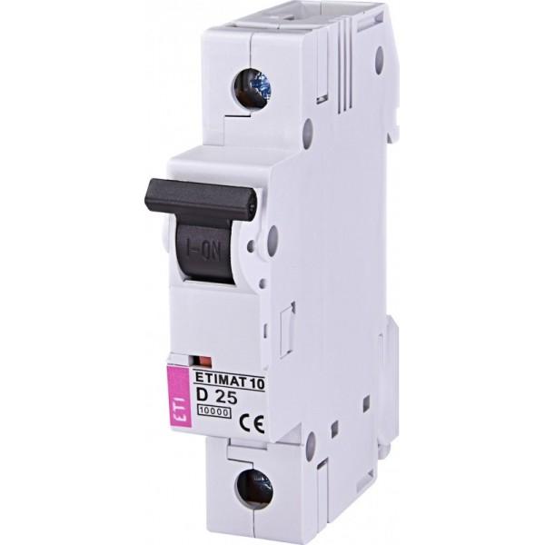 Автоматический выключатель ETIMAT 10 1р D 25А