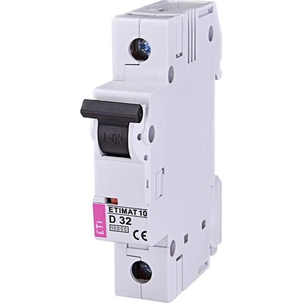 Автоматический выключатель  ETI10  1р D 32А