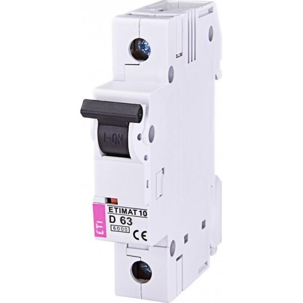 Автоматический выключатель  ETI10  1р D 63А