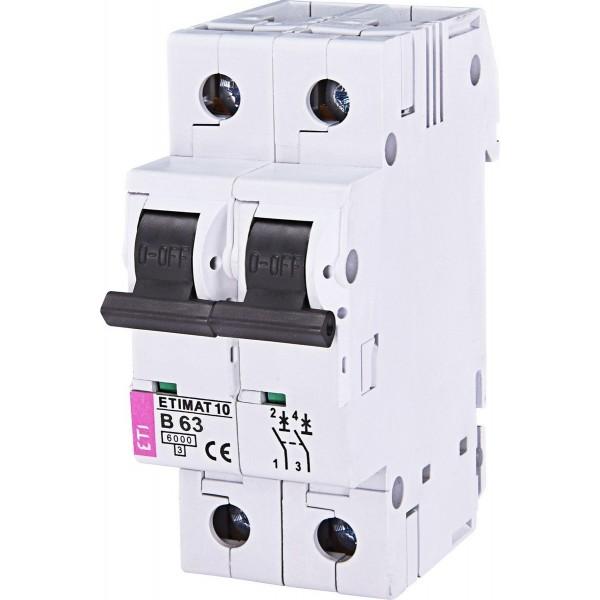 Автоматический выключатель ETI10  2р В 63А