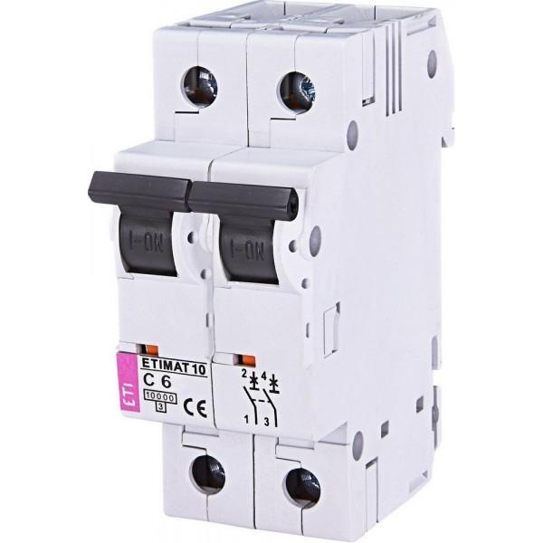 Автоматический выключатель ETI10  2р C  6А