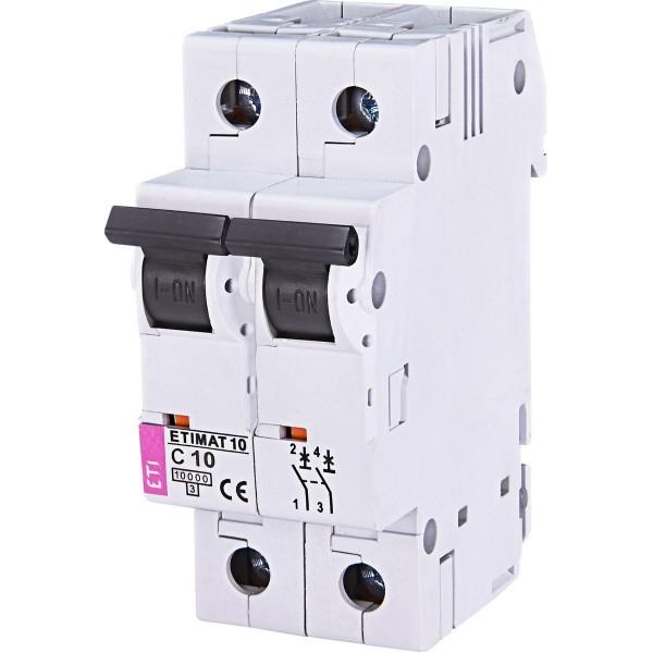 Автоматический выключатель ETI10  2р C 10А
