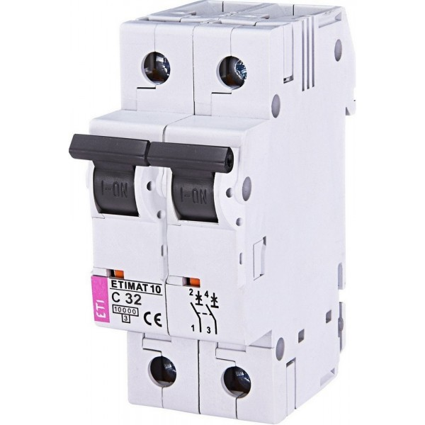 Автоматический выключатель ETI10  2р C 32А