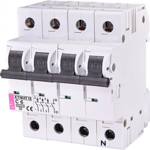 Автоматический выключатель ETI10  3р+N С  6А
