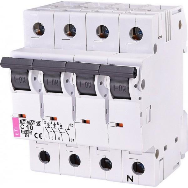 Автоматический выключатель ETI10  3р+N С 10А