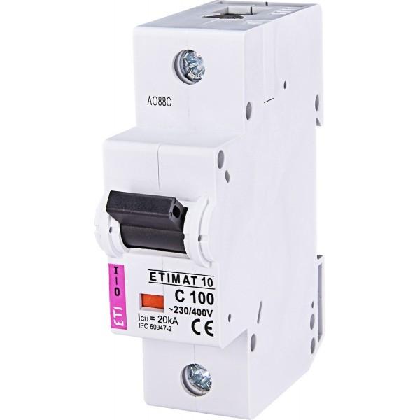 Автоматический выключатель  ETI10  1р C 100А