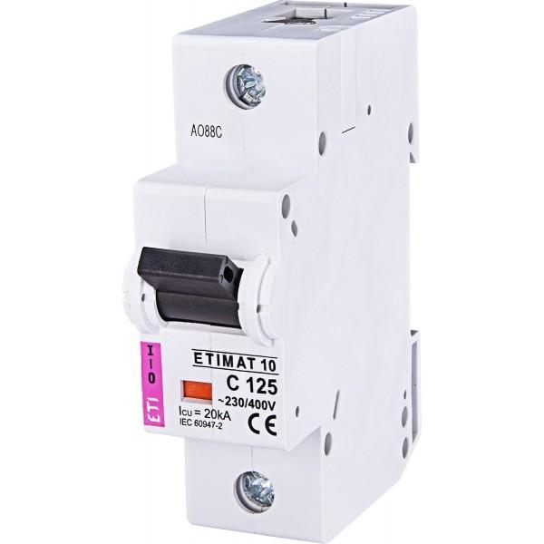 Автоматический выключатель ETI10  1р C 125А