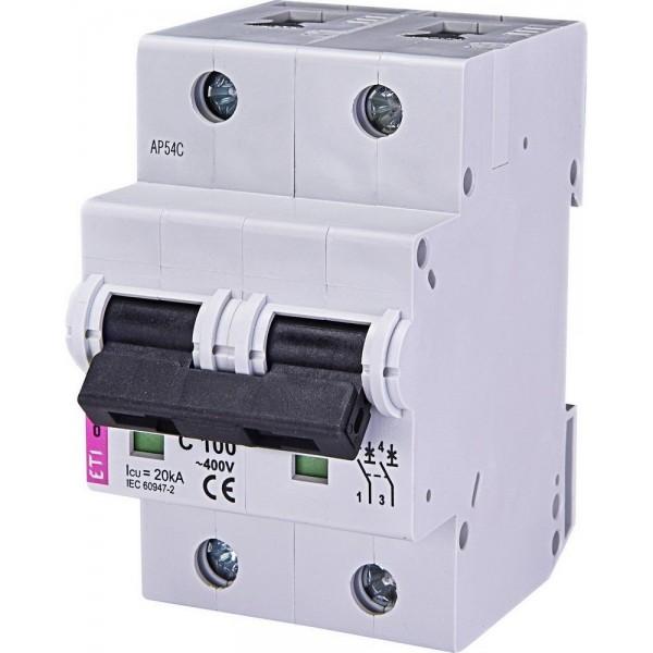 Автоматический выключатель  ETI10  2р C 100А