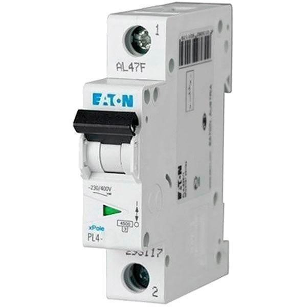 Автоматический выключатель Eaton PL4-B 10A/1