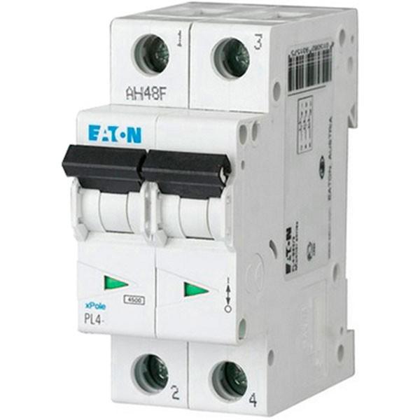 Автоматический выключатель Eaton PL4-C 6A/2