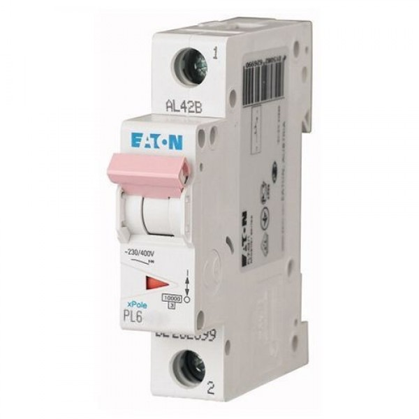 Автоматический выключатель Eaton PL6-B 63A/1