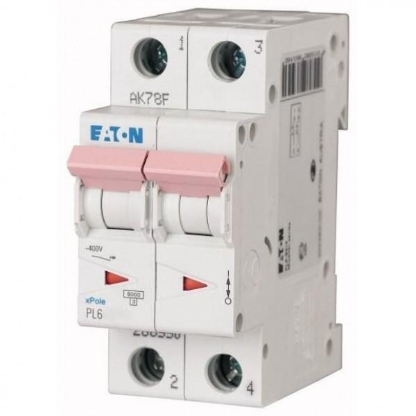 Автоматический выключатель Eaton PL6-B 16A/2