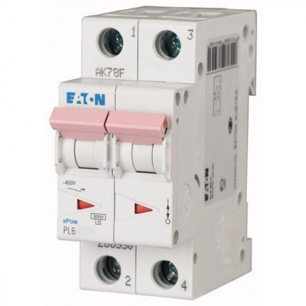 Автоматический выключатель Eaton PL6-C 10A/2