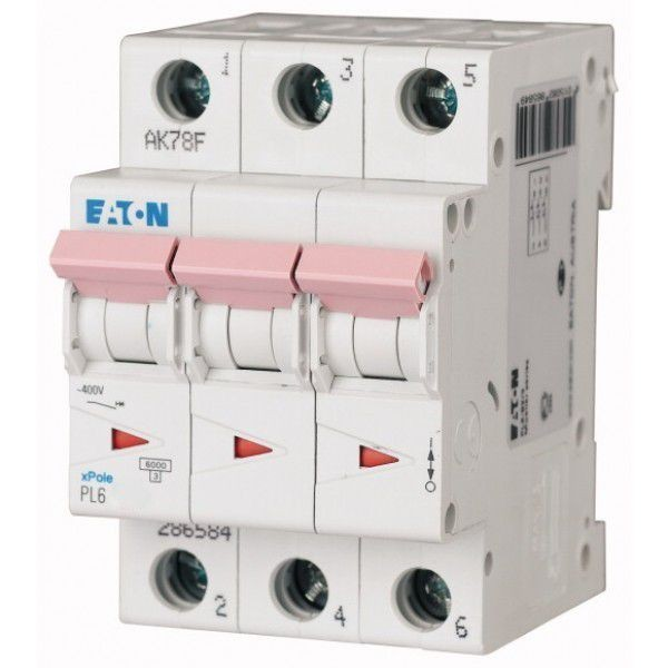 Автоматический выключатель Eaton PL6-B 10A/3