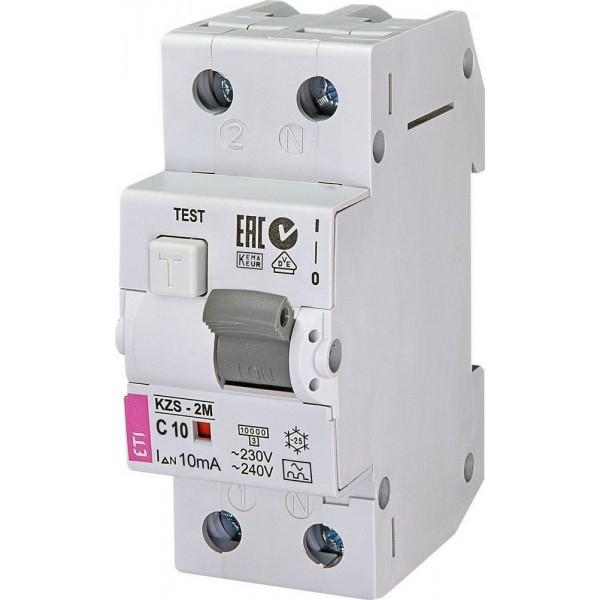 Дифавтомат KZS-2M C10/0,01  10kA