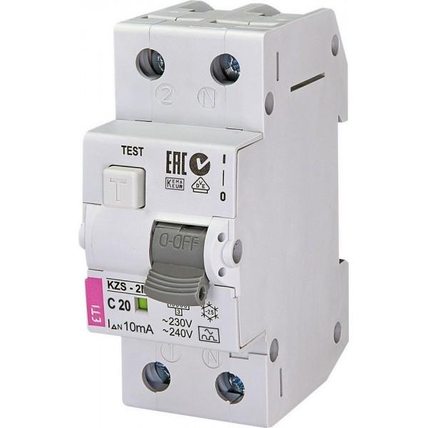 Дифавтомат KZS-2M C20/0,01  10kA