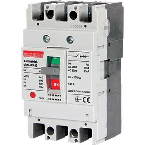 Шкафной автоматический выключатель e.industrial.ukm.60S.63, 3р, 63А