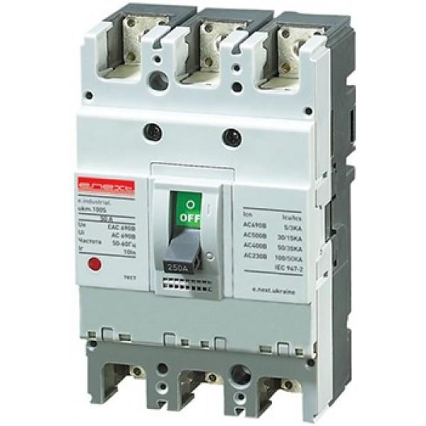 Шкафной автоматический выключатель e.industrial.ukm.100S.80, 3р, 80А