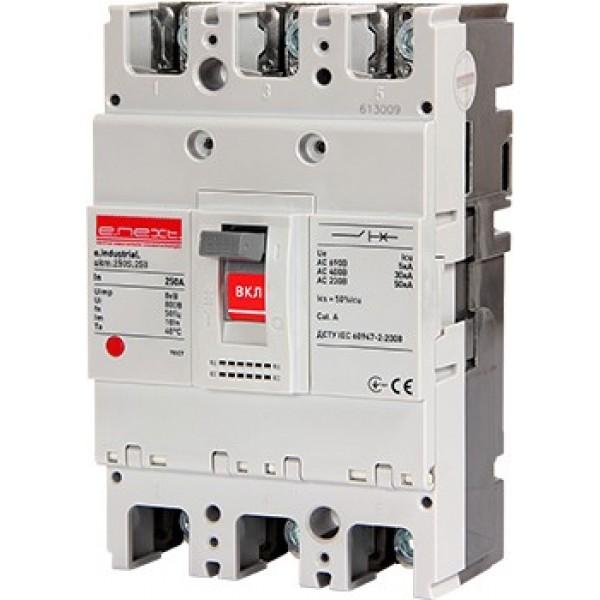 Шкафной автоматический выключатель e.industrial.ukm.250S.100, 3р, 100А