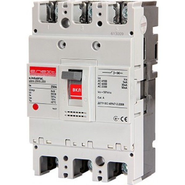 Шкафной автоматический выключатель e.industrial.ukm.250S.160, 3р, 160А