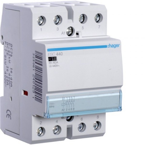 Контактор модульный Hager ESC442,  2NO+2NC, 230V