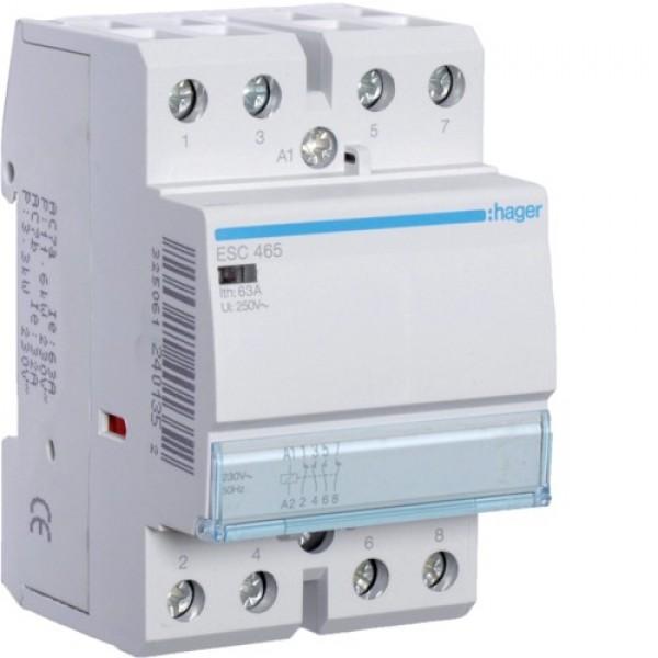 Контактор модульный Hager ESC466,  3NO+1NC, 230V