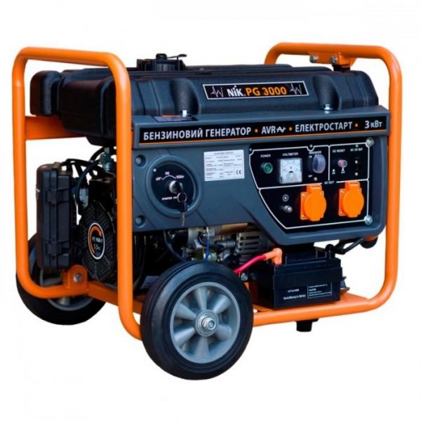 Генератор NIK PG3000 3,0кВт, 220В на бензине