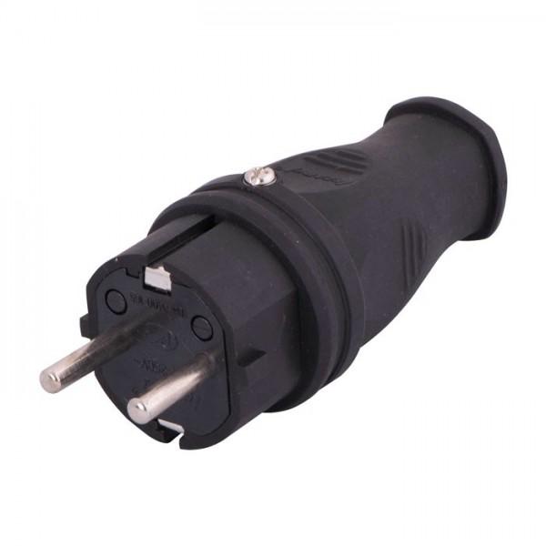 Вилка однофазная Lezard 2Р + РЕ 1х16 220-240V каучук