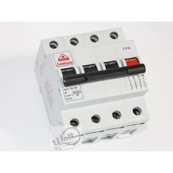 Автоматический выключатель Havells 3+Np C 25A 6kA